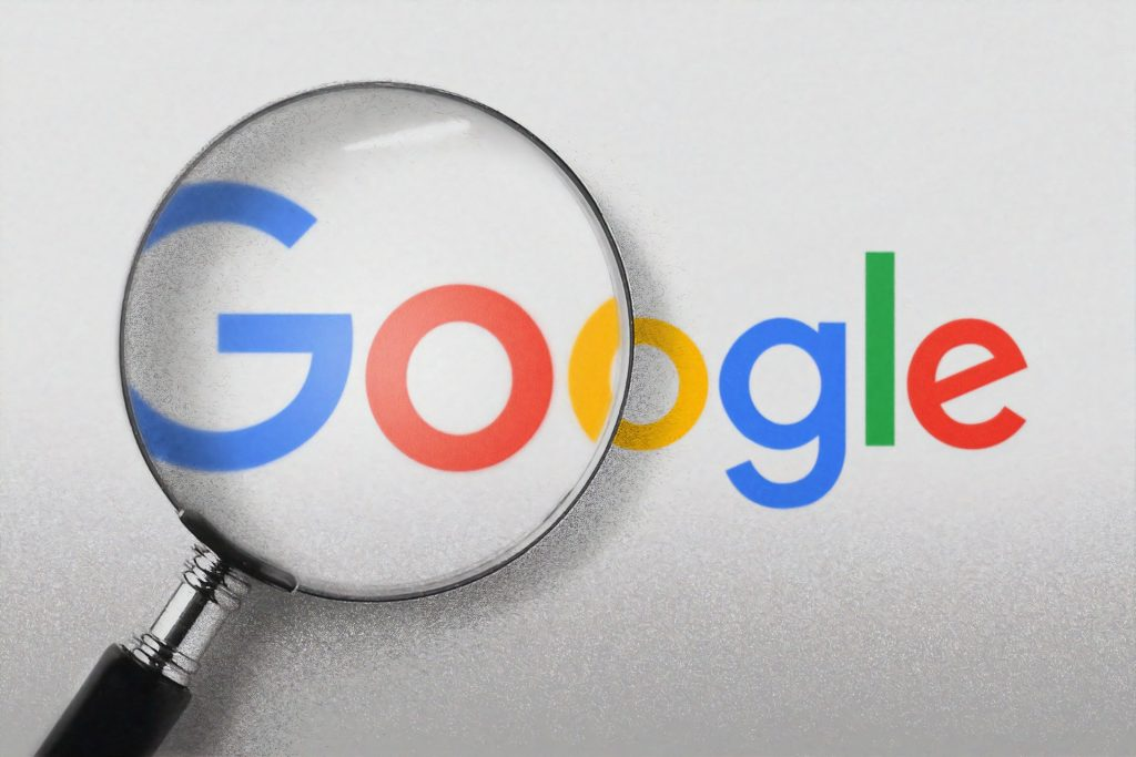 Picture of Google logo and magnifying glass