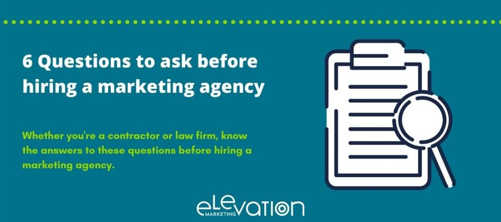 blog header for what questions to ask before hiring a marketing agency